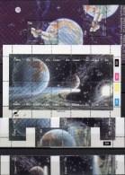 Comet Halley 1986 Südafrika Ciskei 87/6 ZD,KB,216+Block 7 ** 45€ Hoja Philatelic M/s Space Se-tenant Bf South Africa RSA - Neufs