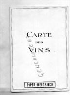 51- CHAMPAGNE PIPER HEIDSIECK-  CARTE DES VINS - Menus