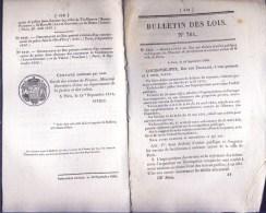 Bulletin Des Lois Du 16 Septembre 1840 – 174 Ans D'âge ! - Travaux De Fortification à Executer Autour De Laville De Pari - Decrees & Laws