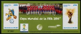 COSTA RICA 2014 - Sports,  Mondial De Football Au Brésil - BF Neufs // Mnh - 2014 – Brésil