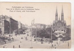 Austria Old Uncirculated Postcard - Wien Vienna - Freiheitsplatz Mit Votivkirche - Vienne