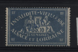 TIMBRES FISCAUX / SOCIO POSTAUX / ALSACE LORRAINE / N° 100 / 13 SEMAINES - Revenue Stamps