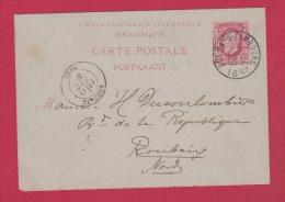 BELGIQUE   //   Carte Postale  //   De Dolain  //  Pour Roubaix  //  26 Dec 1887 - Cartoline [1871-09]