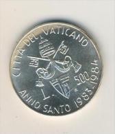 Vatikan 1983 -- 500 Lire Silber RAR Holy Year Vaticano   (37300-167) - Vatikan