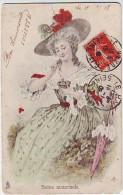 FANTAISIES. ILLUSTRATEURS . SOINS MATERNELS . JOLIE FEMME SOIGNANT DES OISILLONS Par RAPHAEL TUCK - Tuck, Raphael