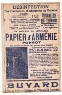 Buvard Papier D'Arménie Ponsot Offert Aux Lecteurs De L'almanach Hachette - Buvards, Protège-cahiers Illustrés