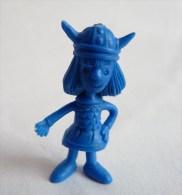 RARE FIGURINE PUBLICITAIRE DUNKIN ESPAGNOLE VICLE VIKING 05 monochrome bleu - pas wiko boomer