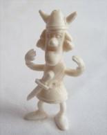 RARE FIGURINE PUBLICITAIRE DUNKIN ESPAGNOLE VICLE VIKING 08 monochrome blanc - pas wiko boomer