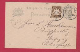 ALLEMAGNE  //  Postkarte  De Batreuth  //  Pour Leipzig  //   19 / 11/   1900 - Stamped Stationery