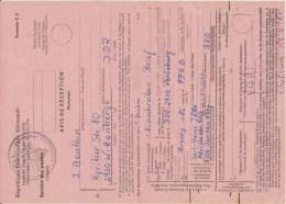 DDR Rückschein Formular Perleberg Stempel Göppingen 1986 - Storia Postale