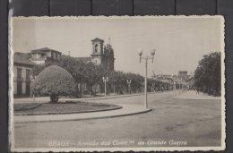 Portugal - Braga - Avenida Dos Comb.tes Da Grande Guerra - Carte Photo - Braga
