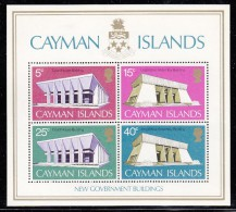 Cayman Islands MNH Scott #303a Souvenir Sheet Of 4 New Government Buildings - Iles Caïmans