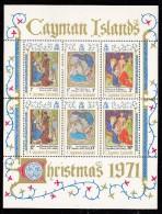 Cayman Islands MH Scott #296a Souvenir Sheet Of 6 Christmas - Details Of Paintings - Iles Caïmans