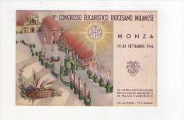 Cartolina/postcard IV° Congresso Eucaristico Diocesano Milanese - MONZA 1945 - Non Classificati