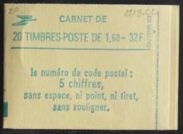 FRANCE CARNET De 20 Timbres 2219 Neufs** N° 2219-C2 -T B E - Carnets