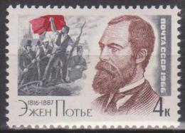 """Russie N° 3091 ** Sesquicentenaire De La Naissance D'Eugène Pottier, Auteur Français De """"l'Internationale"""" - 1966 - Unused Stamps"""