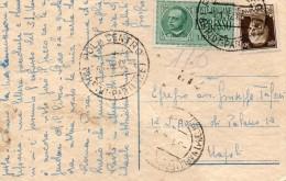 1942  CARTOLINA ESPRESSO CON ANNULLO POLA - 1900-44 Vittorio Emanuele III