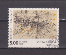 "FRANCE / 1993 / Y&T N° 2835 : ""Gravure Rehaussée"" (Vieira Da Silva) - Choisi - Cachet Rond - France"