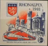 FEUILLET SOUVENIR CNEP - 1981 - RHONALPEX 1981 N° 2 - NEUF** Y&T : 10€ - SUPERBE ! - CNEP