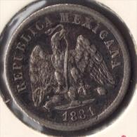 MEXICO 10 CENTAVOS 1881 MO M ARGENT SILVER - Mexico