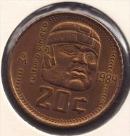 MEXICO 20 CENTAVOS 1984 CULTURO OLMECO - Mexico