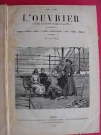 Reliure Du Journal Hebdomadaire Illustré L'Ouvrier 1888-1889. Nombreuses Gravures. 420 Pages. - Books, Magazines, Comics