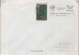 """Lettre 974 St Paul Réunion ? Flamme O=  """"...timbres De La Croix Rouge Française """" Concordante Avec 15+5 CFA - Rode Kruis"""