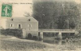 """/ CPA FRANCE 36 """"Velles"""" / MOULIN - Autres Communes"""