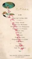 36 - VALENCAY - BEAU MENU 4 JUILLET 1934- MME SALMON CUISINIERE A JEU MALOCHES - IMPRIMEUR GUILLOT - Menus