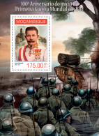 m14130b Mozambique 2014 Worl War I WW1 s/s