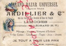 87 - LIMOGES - SAINT LEONARD DE NOBLAT - CHROMO ALI BABA- GRAND BAZAR UNIVERSEL -ARDILLIER RUE DU CLOCCHER -FERRERIE- - Au Bon Marché