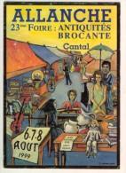 15 ALLANCHE 23E Foire Aôut 1999 Peinture Huile Isabelle Depailler, Musée Postal D'Auvergne TBE - Allanche