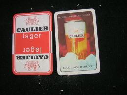 Playing Cards / Carte A Jouer / 4 Dos De Cartes De La Brasserie - Brouwerij -Caulier - Mons - Cartes à Jouer