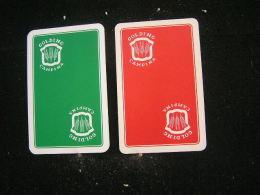 Playing Cards / Carte A Jouer / 2 Dos De Cartes De La Brasserie - Brouwerij - Golding Campina - Dessel - Spielkarten