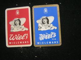 Playing Cards / Carte A Jouer / 4 Dos De Cartes De La Brasserie - Brouwerij - Wielemans,  Brussel / Bruxelles - Cartes à Jouer