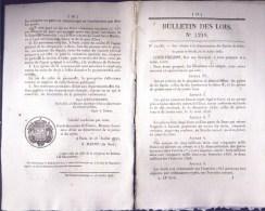 Bulletin Des Lois Du 16 Juillet 1845 – 169 Ans D'âge ! - Démonétisation Des Espèces De Billon - Cotisation à Percevoir S - Decrees & Laws