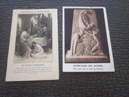 2 CHROMO IMAGE RELIGIEUSE Religion Chrétienne Profession Foi Communion église Sainte>RV ND Afrique Ste Madeleine - Imágenes Religiosas