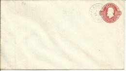 BRAZIL  Prestamped Envelope  300 Reis With Postmark 1893 - Postal Stationery