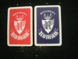 Playing Cards / Carte A Jouer / 2 Dos De Cartes Brasserie - Brouwerij - Roman - Mater - Non Classés
