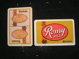 Playing Cards / Carte A Jouer / 2 Dos De Cartes Brasserie - Brouwerij - Roman - Mater - Ohne Zuordnung