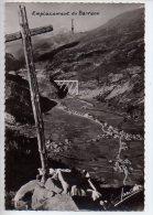 REF 187  :  CPSM 73 TIGNES Vue Générale L'emplacement Du Barrage - Autres Communes