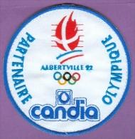 écusson Jeux Olympiques D'Albertville 1992 - Partenaire Candia - Patches