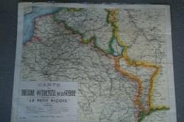 GUERRE 1914-1918- RARE AFFICHE  CARTE THEATRE OCCIDENTAL DE LA GUERRE EDITEE PAR LE PETIT NICOIS-BELGIQUE-LUXEMBOUR G - Affiches