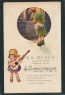 """ENFANTS - Jolie Carte Fantaisie Fillette """"LA TOSCA"""" Signée A. BERTIGLIA - Bertiglia, A."""