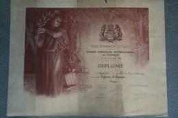 74 - ANNECY - 87 - LIMOGES- BEAU DIPLOME PRIX DU LAC D' ANNECY- CONCOURS MUSIQUE-1938- ENFANTS DE LIMOGES - Diplômes & Bulletins Scolaires