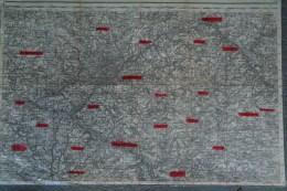 87- LIMOGES-FEYTIAT-COUZEIX-GENEYTOUSE-SOLIGNAC-JOURGNAC-VERNEUIL-ST PRIEST TAURION-CARTE 1907 MILITAIRE - Cartes Géographiques
