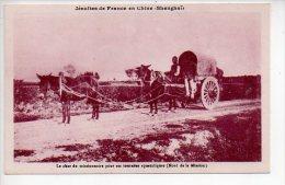 REF 185  :  CPA Chine China Jésuites De France  à Shanghai Le Char Du Missionaire Pour Sa Tournée Apostoliques Attelage - China