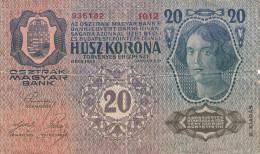 20 KRONEN Österreich-Ungarn 1913, Banknote, Umlaufschein - Oesterreich