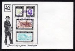 1979 National Trust Tintagel Souvenir Cover Full Detail As Scanned - Cinderellas