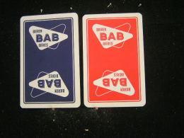Playing Cards / Carte A Jouer / 2 Dos De Cartes Brasserie - Brouwerij / Aigle-Belgica, Bab Bières - Brugge - Cartes à Jouer
